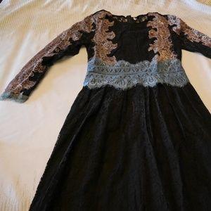 TOPSHOP Lace Multi-Color Dress